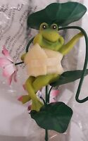 Whimsical Solar Garden Frog Light With Shepherd's Hook (new In Box) Qvc