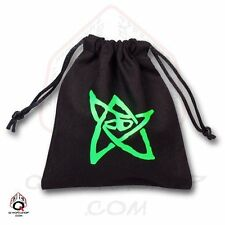 Q-workshop Dice Bag Call of Cthulhu Black Linen w/ Drawstring BCTH103