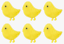 12 Easter Chick Stickers 4cm Bonnet Decorations Craft Soft Fluffy Yellow E21215