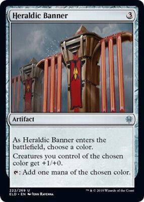 Throne of Eldraine Mtg x1 1x ELD Magic Heraldic Banner-Foil 222