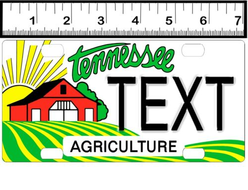 CUSTOM PERSONALIZED ALUMINUM BICYCLE STATE LICENSE PLATE-TENNESSEE AGRICULTURE