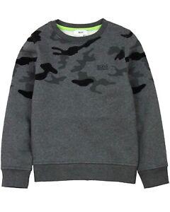 d197cf9e751b Image is loading HUGO-BOSS-Boys-Sweatshirt-with-Camo-Print-Sizes-