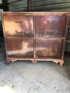 Details About Antique Rca Victor Victrola Radio Record Player Cabinet