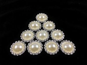 Image is loading DIY-20mm-ROUND-PEARL-RHINESTONE-HAIR-BOW-BUTTON- 4f0fd0aa1825
