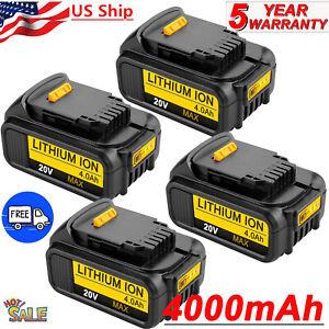 4-NEW-For-DEWALT-DCB204-2-20V-20-Volt-Lithium-Ion-4-0AH-Battery-DCB205-2-DCB200