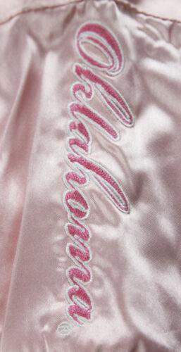 Adidas NCAA Toddlers Oklahoma Sooners Satin Cheer Jacket Pink