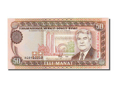 #56298 65-70 50 Manat Turkmenistan Unc Ag9100239 Carefully Selected Materials Hearty Km #5b 1995