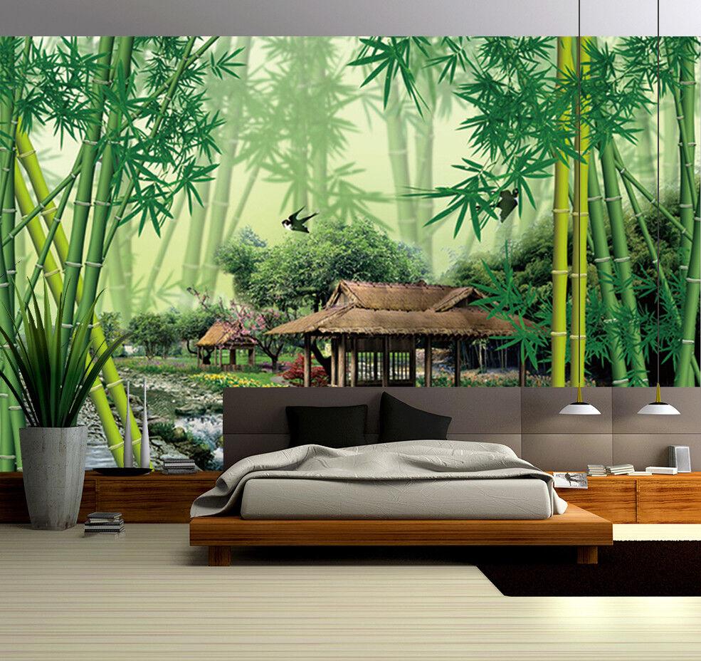3D Bambuswald Hütten 9836 Tapete Wandgemälde Tapeten Bild Bild Bild Familie DE Jenny | Günstige  | Erste Kunden Eine Vollständige Palette Von Spezifikationen  |  fd3e2b