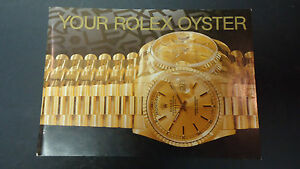 vintage rolex watch 1991 oyster booklet owners manual in english ebay rh ebay com Rolex Crown Jaeger- LeCoultre