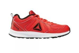 Reebok-Kids-Almotio-4-0-Sneaker-Red-Black-White-Running-Shoes-Size-6-5-Boys