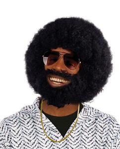 Perruque Afro Homme Noir Avec Des Cheveux Faciaux Robe Fantaisie Hendrix Lionel 60s 70s 80s Ebay