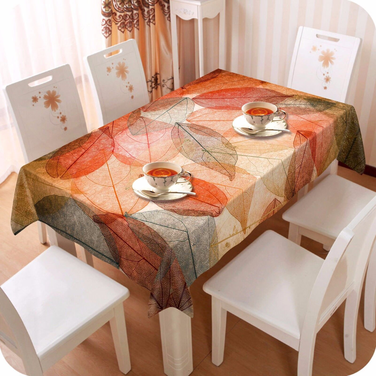 3D rot leaves9 Tablecloth Table Cover Cloth Birthday Birthday Birthday Party Event AJ WALLPAPER UK 144af0
