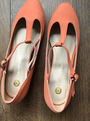 peach color women's shoes