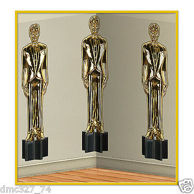 HOLLYWOOD Awards Night Party Decoration BUFF Statue WALL MURAL BACKDROP 4'x30'