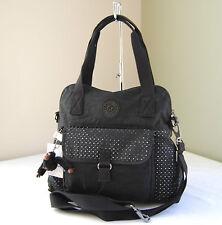 Kipling HB6450 Pahneiro Perforated Medium Handbag Black Eyelet