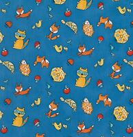 Free Spirit Fox Playground By Dena Designs Pwdf 191 Navy Animal Toss Cotton Fab