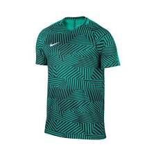 Nike Dry FIT Calcio Training Top-Verde Grafica Adulto L