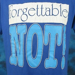 vintage-80s-FORGETTABLE-NOT-PAPER-THIN-T-Shirt-LARGE-joke-funny-BUTTERY-SOFT