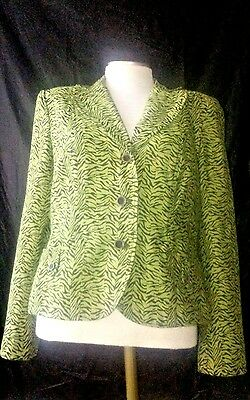 Active Rqt Sz 12 Green Brown Rayon Blend 3 Button Lined Women's Jacket Blazer Rn57895 And To Have A Long Life. Suits & Suit Separates Clothing, Shoes & Accessories