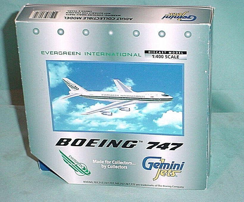 NIB GEMINI JETS EVERGREEN INTERNATIONAL BOEING 747 MODEL Airplane 1 400 DIECAST
