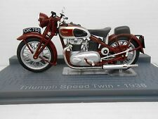 MOTO TRIUMPH SPEED TWIN 1938 BIKE MOTORBIKE ALTAYA IXO 1/24 1:24 MINIATURE