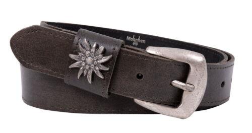 Cintura Trachten Lederhosen Cintura Uomo Cintura Trachten Edelweiss Marrone Scuro