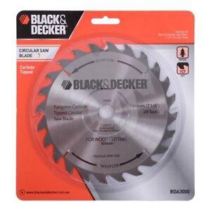 Black decker 184mm 24t wood circular saw blade 20mm bore bush image is loading black amp decker 184mm 24t wood circular saw greentooth Images