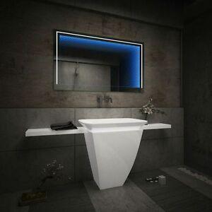 badspiegel mit led 3d beleuchtung tieffeneffekt badezimmerspiegel ... - Badezimmerspiegel Mit Led Beleuchtung
