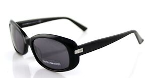 RARE New Authentic EMPORIO ARMANI Glossy Black Grey SUNGLASSES EA 9721/S 807 Y1