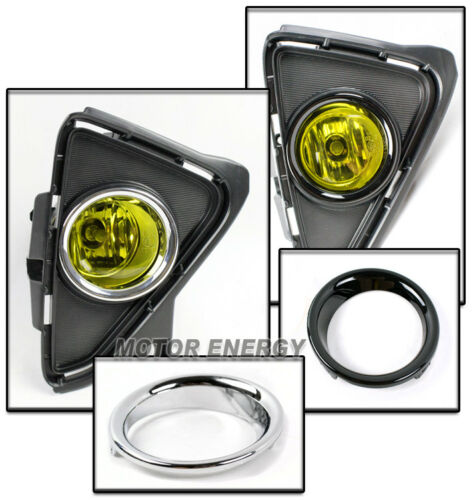 16-18 TOYOTA RAV4 BUMPER FOG LIGHTS LAMPS YELLOW W//50W 6K HID+HARNESS LEFT+RIGHT