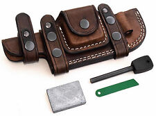 CFK Custom Handmade RIGH HAND CROSS DRAW Horizontal TRACKER Knife Blade Sheath