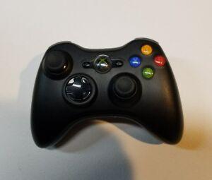 """A"" Official Microsoft Xbox 360 BLACK Wireless Controller Genuine Original OEM"
