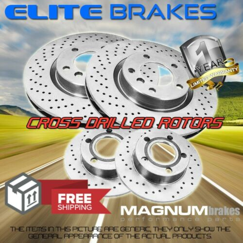 F+R Drilled Rotors for 2009-2015 Volkswagen Touareg 3.0L w// 330mm Front rotors