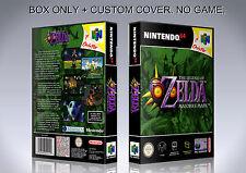 ZELDA MAJORA'S MASK. PAL ENGLISH. Box/Case. Nintendo 64. BOX + COVER. (NO GAME).