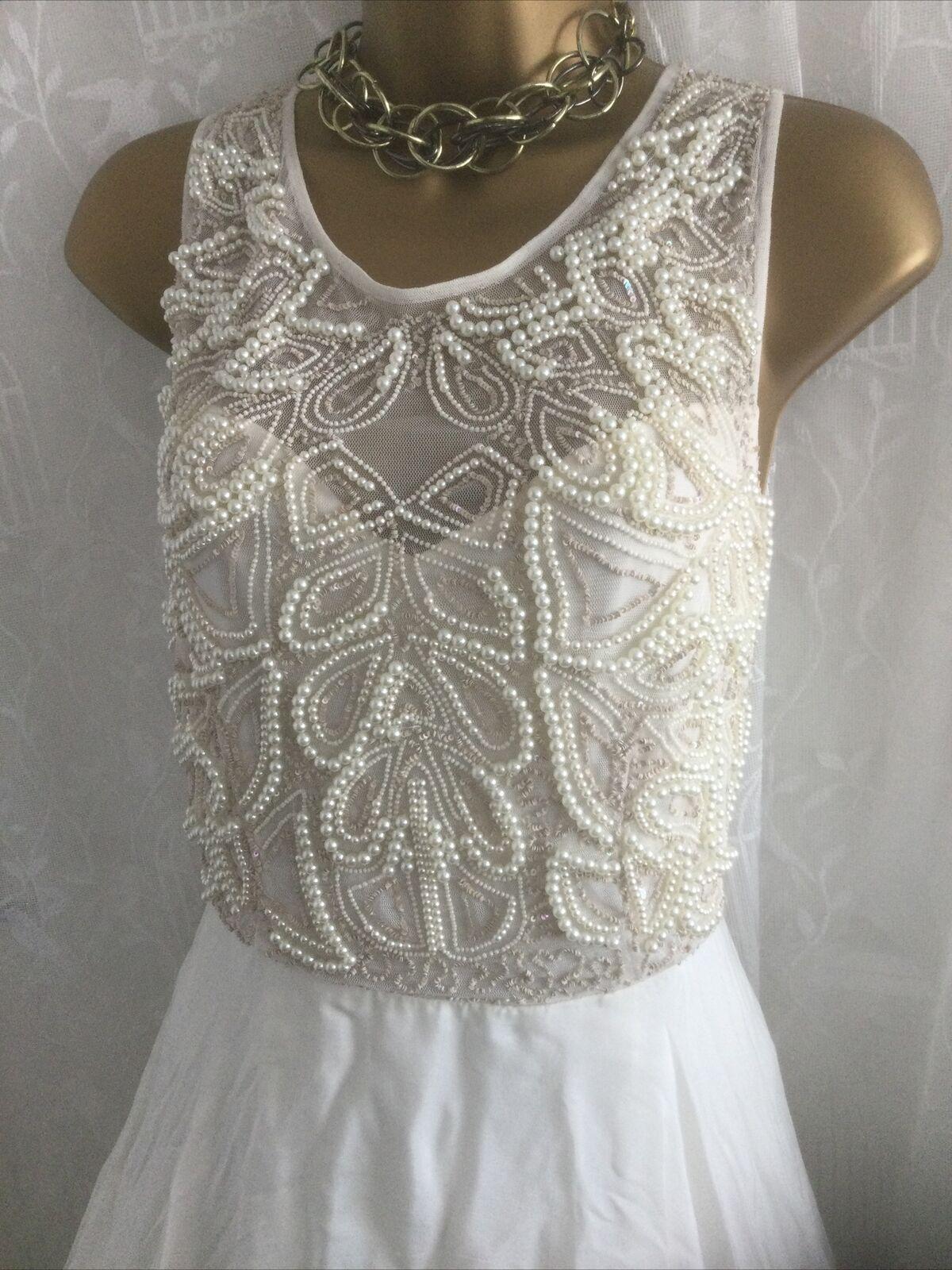 Monsoon - Bridal Wedding Embellished Lined Dress Ivory - Size 12 Dasha Bnwt