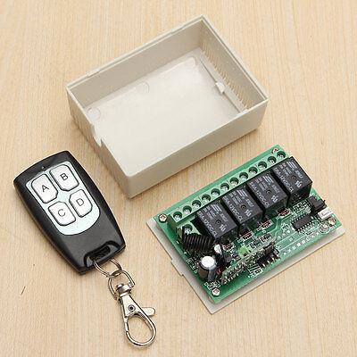 DC 12V 4 CH Channel RF 200M Wireless Remote Control Switch Transmitter +Receiver