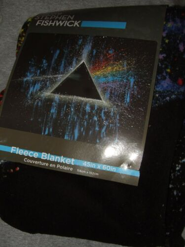 Pink Floyd Stephen Fishwick Art Dark Side Of The Moon Plush Fleece Throw Blanket
