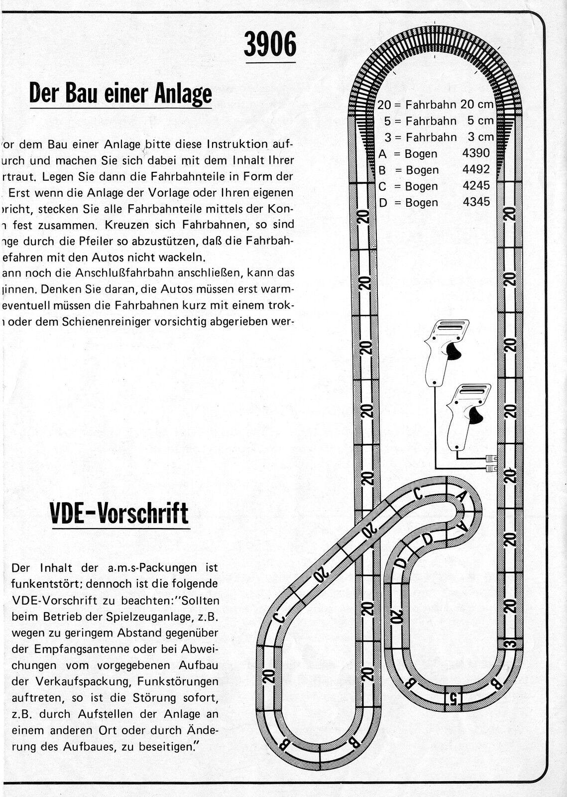 Faller Ams 3906 Materiale Pista Der Racing Campionato Mondo