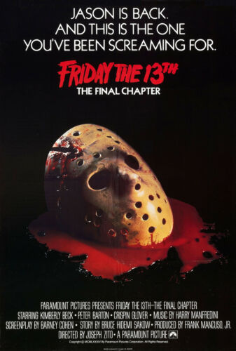FRIDAY THE 13th THE FINAL CHAPTER Movie Poster Jason Freddy