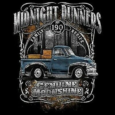 MOONSHINERS MOONSHINE MIDNIGHT RUNNER OLD TRUCK 190 PROOF T SHIRT M TO 6X