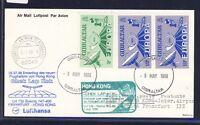 52277) LH FF Frankfurt - Hongkong 5.7.98, Karte ab Gibraltar RR!! CEPT