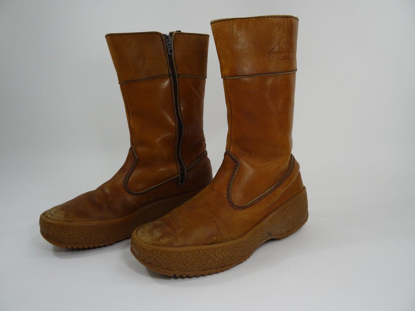 La Mondiale Leather Boots Fur lined Size 10