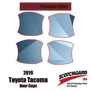 2019 Toyota Tacoma 3M PRO Series Paint Protection Kit for Door Cups