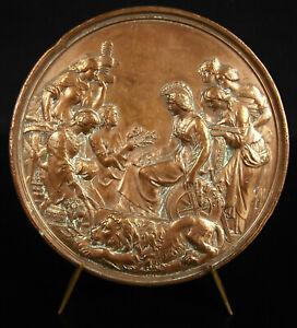 Medaglia-Britannia-United-Kingdom-1850-Daniel-Maclise-Leonard-Wyon-England-Medal