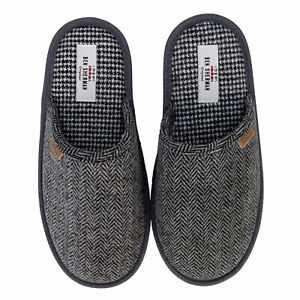 Ben-Sherman-Chaussons-mules-One-amp-Only-Gris-Noir-Homme