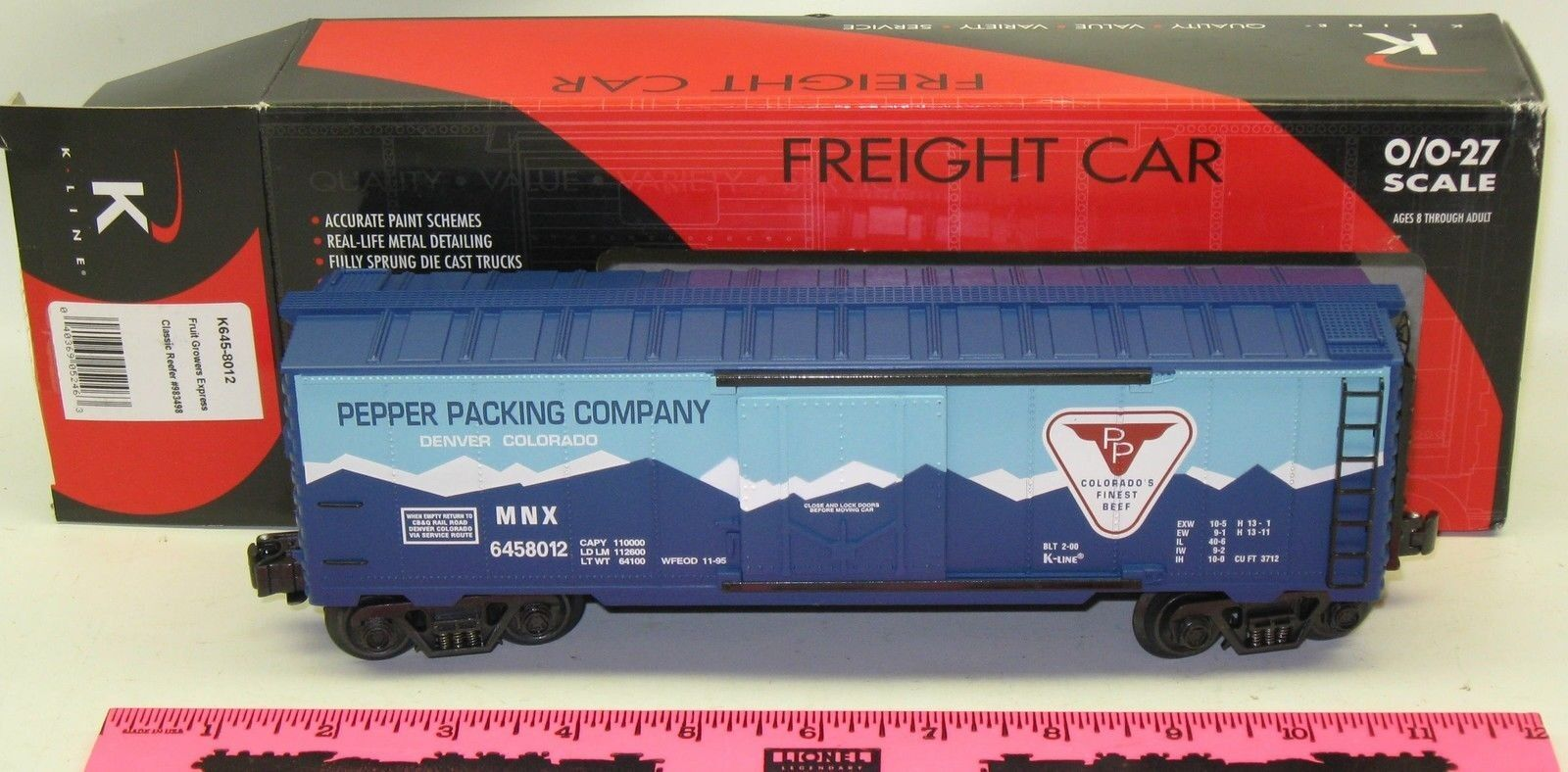 New K-Line  K645-8012 Fruit Growers Express Classic Reefer
