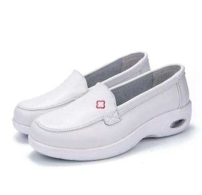 womens slip on platform wedge white nurse shoes air