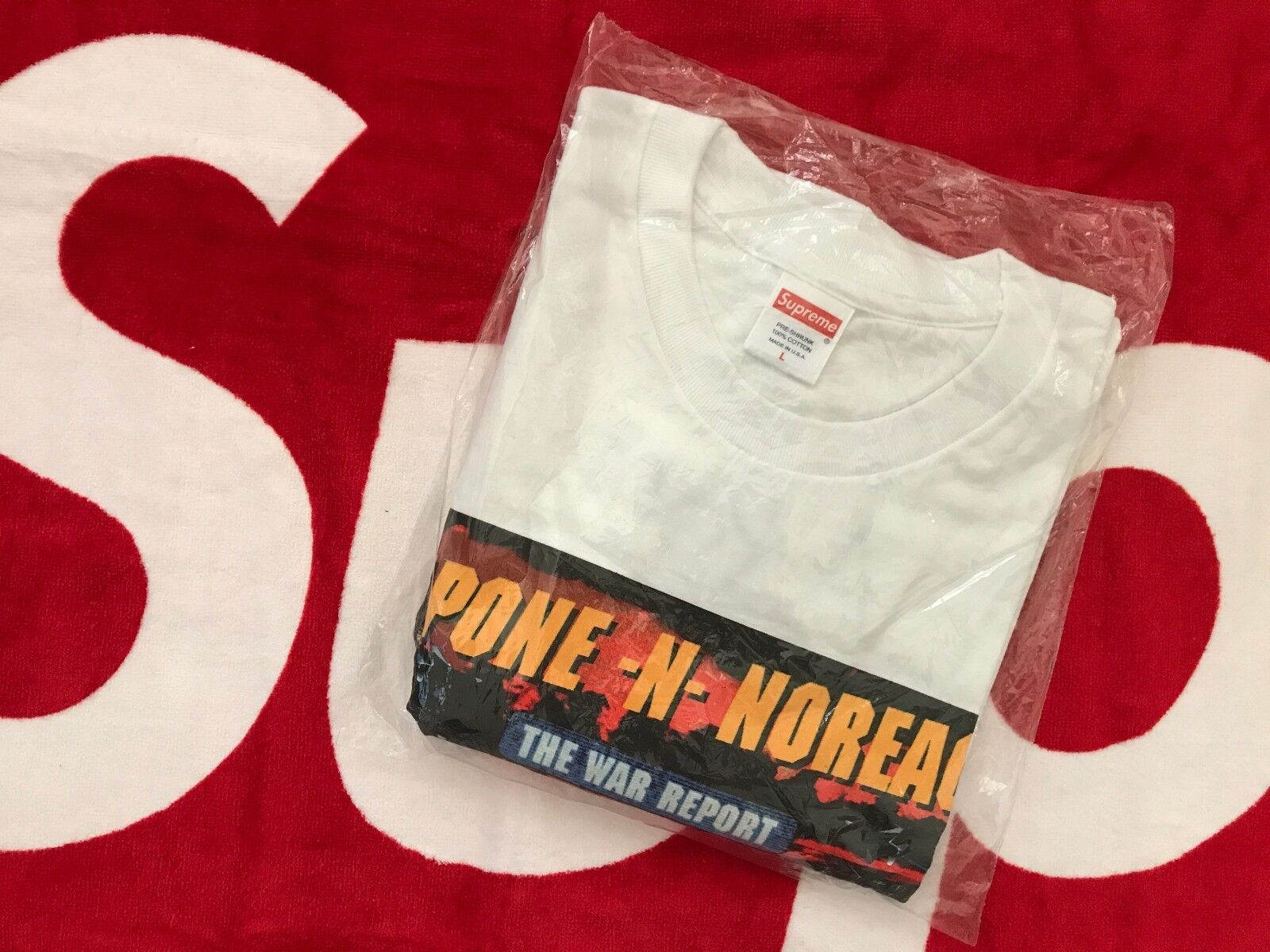 Supreme Capone N Noreaga War Report Tee Shirt T Authentic NEW L Large