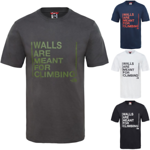 THE-NORTH-FACE-TNF-Walls-Climbing-Cotton-T-Shirt-Short-Sleeve-Tee-Mens-All-Size