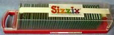 SIZZIX SIZZLITS BOXED BRUSH ALPHABET & NUMBERS 35 DIE SET W CASE BARELY USED!